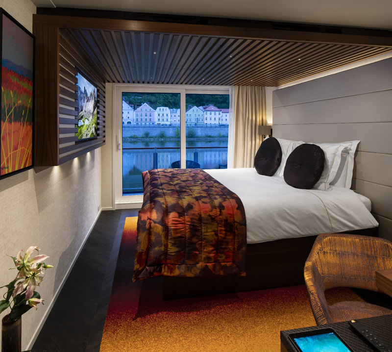 Cabin on river cruise ship